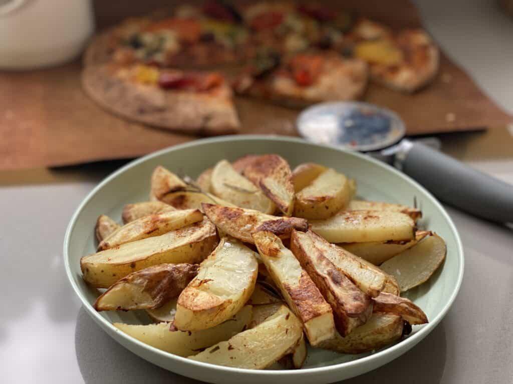 Bowl of Roasted Potato Wedges